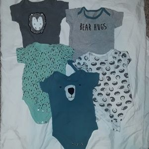 5 piece baby boy onesie bundle